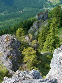 Vrátna Dolina from the rocks on Boboty, Malá Fatra