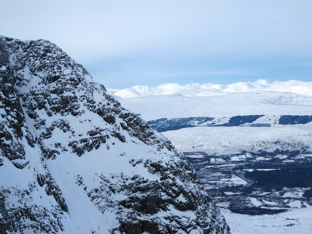 Castle Ridge from the upper half of the Ledge Route of Ben Nevis