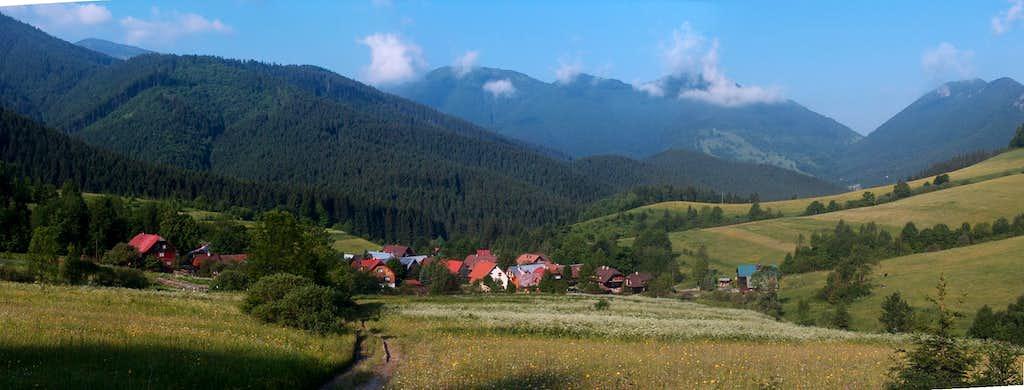Arriving in Štefanová