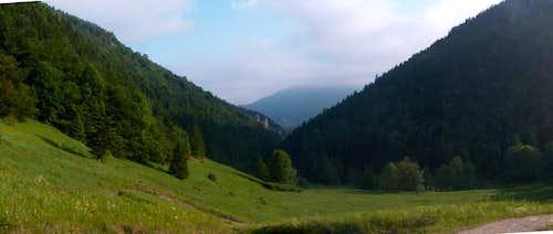 Over Štefanová in the morning
