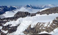 View from the summit of Mt. Athabasca