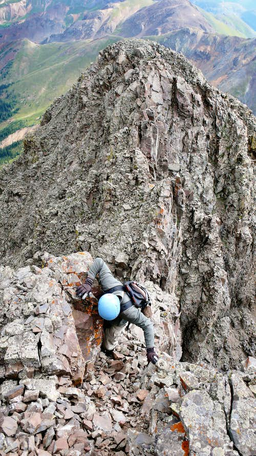 Final moves to Storm Peak's summit