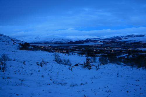 Early morning over Fort William