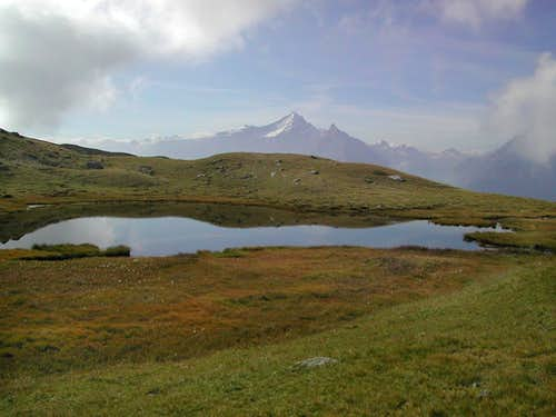 At the foot of Mont Fallere: view towards Gran Paradiso Group