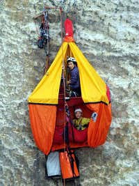 "2005, training for Meru Peak Expedition""Rock Climbing"""