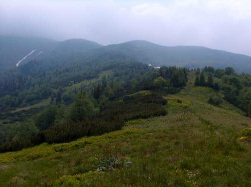 Down from Fatransky Kriván under the storm