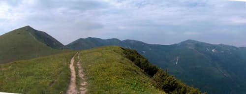 On the ridge of Poludnový Grún
