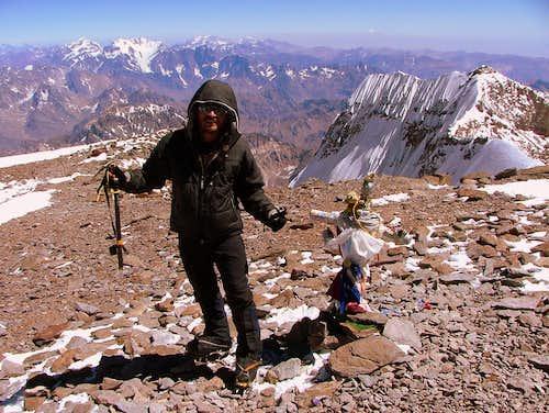 Aconcagua (6,962 m/22,835 ft). Argentina