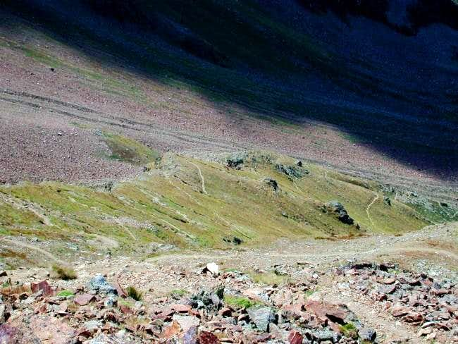 The path sometimes steep