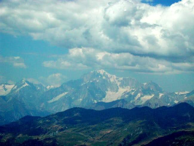 The Monte Bianco Gruop view...