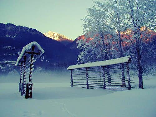 Winter in Sava valley. While...