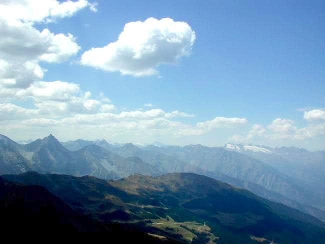 View from the Becca di Nona...