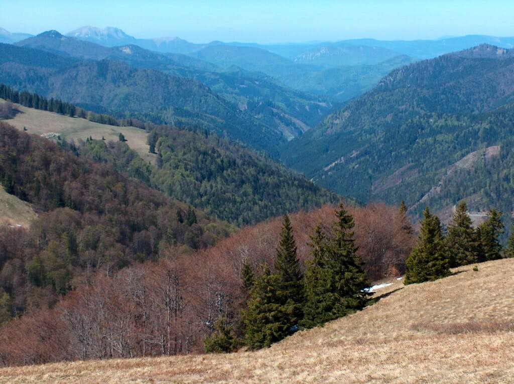 Looking North into Slovakia's longest valley, Ľubochnianska Dolina, more than 20km of wilderness !