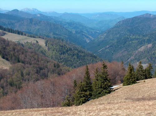 Looking North into Slovakia's longest valley, Ľubochnianska Dolina, more than 20km of wilderness !
