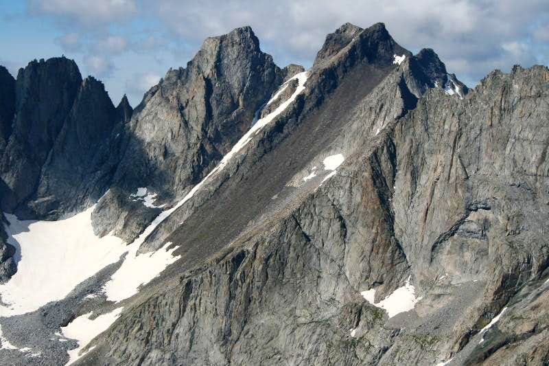 Black Tooth Mountain and Penrose Peak