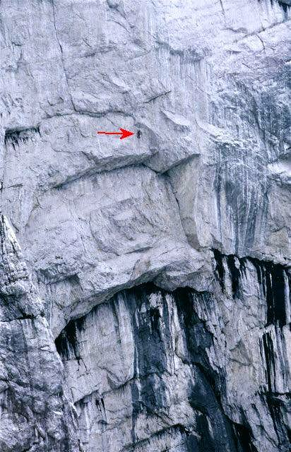 Two climbers passed the big...
