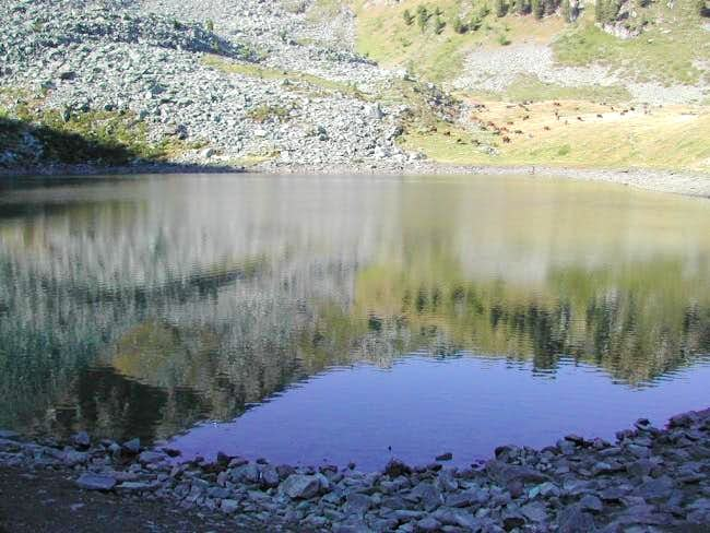 On the shore of Chamolè lake