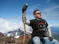 My Brother at South Sister Summit