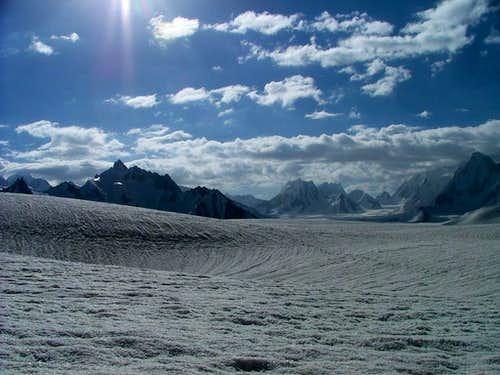 Biafo Glacier, Near Snow Lake