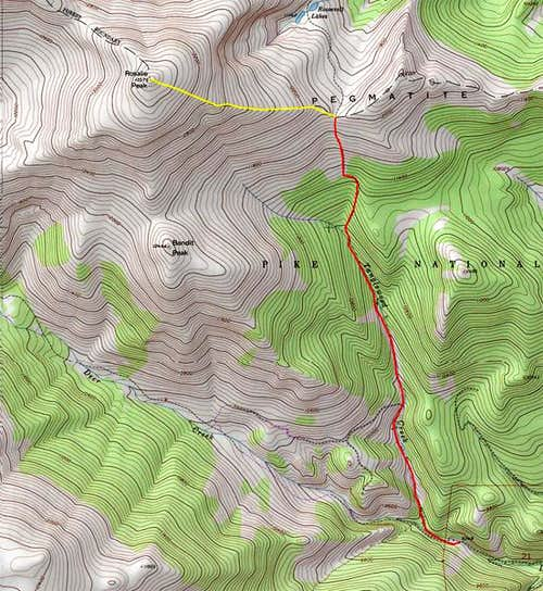 Rosalie\'s east ridge route...