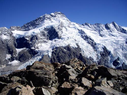 Mount Sefton from Mount Ollivier