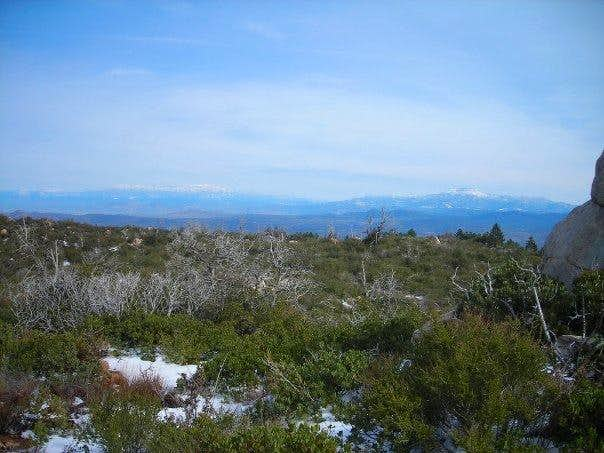 Agua Tibia - view north