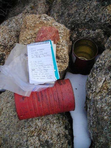 Eagle Crag - Summit register