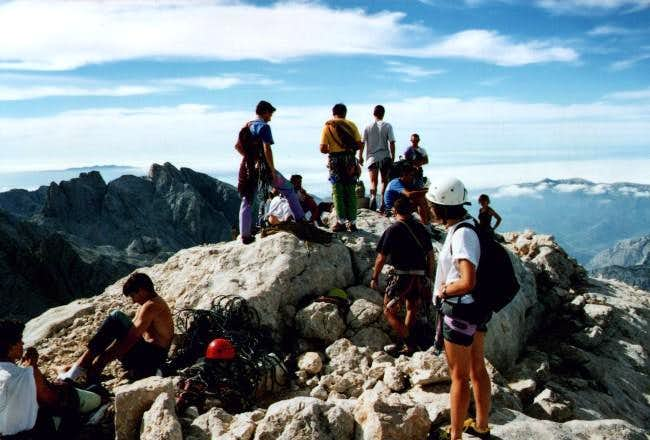 Crowded summit day on...