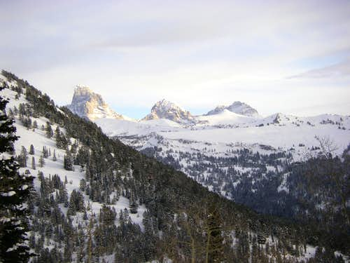 The Grand Teton Middle and South from the Commissary Ridge Yurt