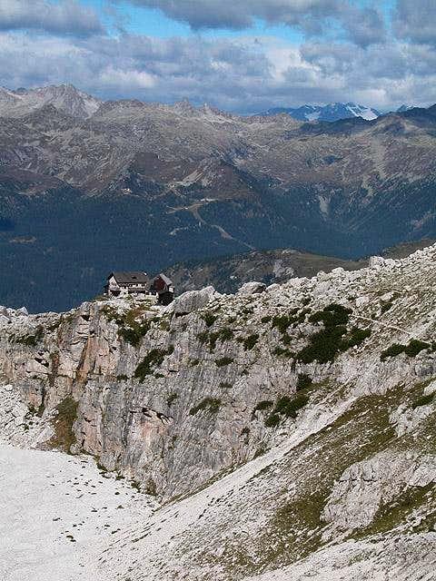 Rifugio Tuckett seen from...