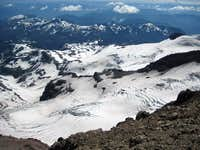 Ingraham and Cowlitz Glaciers