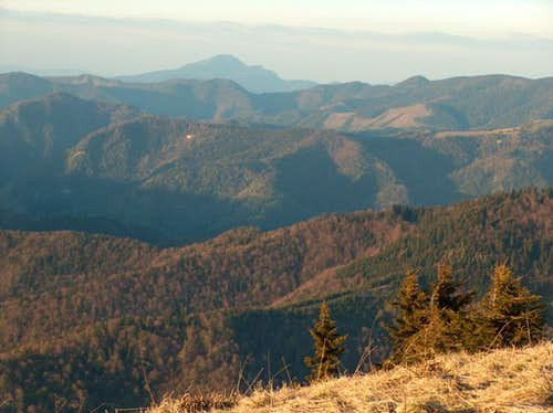 Sunset from the top of Borišov, looking North to the <a href=