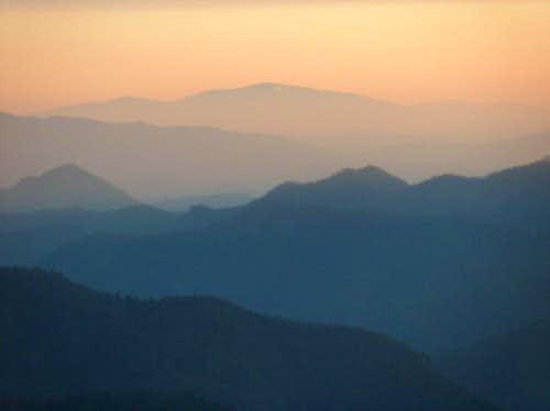 Sunrise from the top of Borišov, looking North to <a href=