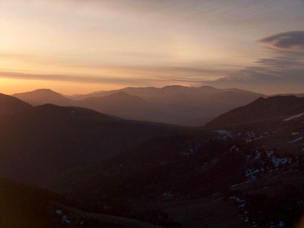 Sunrise from the top of Borišov, looking North to Ľubochnianska Dolina