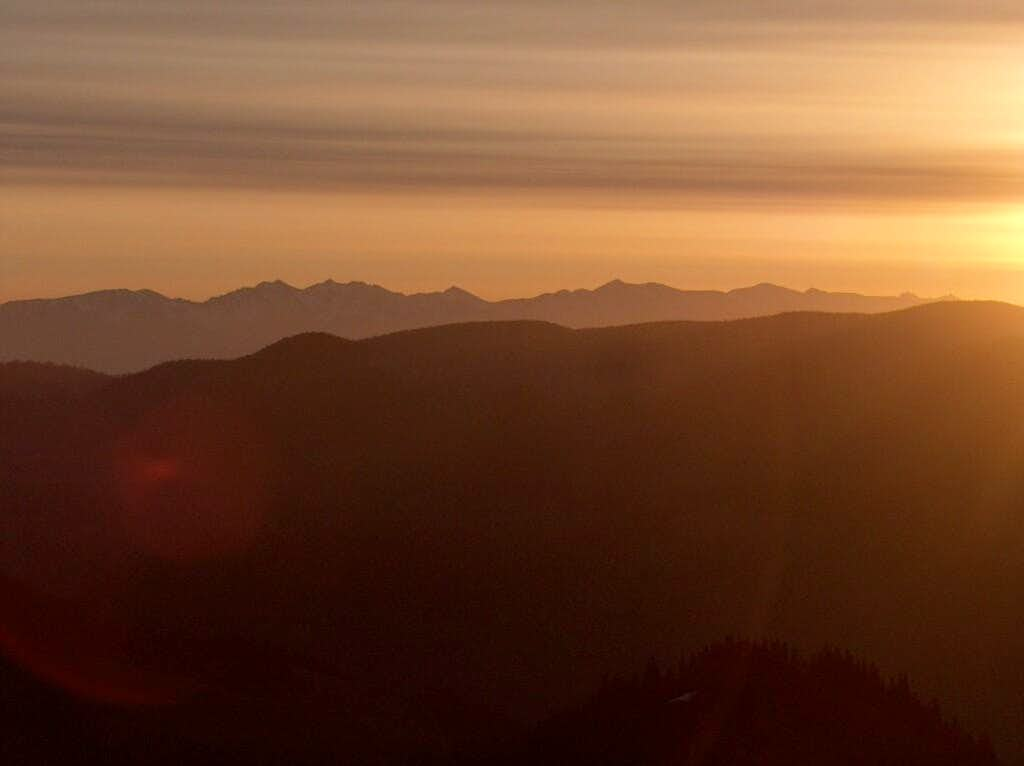 Sunrise from the top of Borišov, looking East to the <a href=