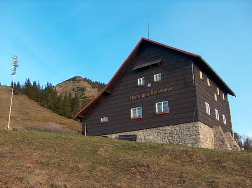 Hiking back in the sunrise, from the top of Borišov to the mountain-hut <a href=