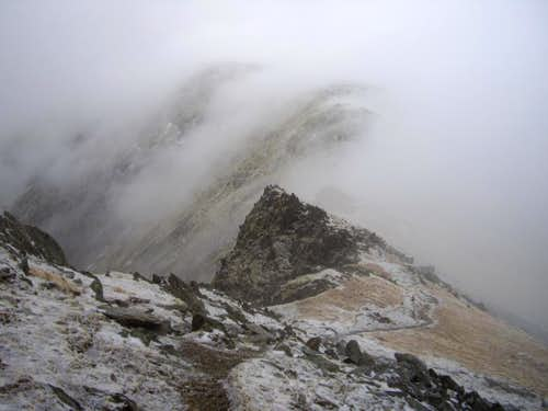 The Carneddau in the cloud