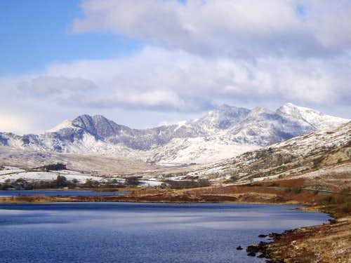 Snowdon under a blanket of snow