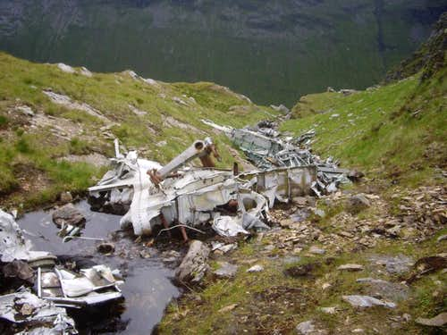 Wreckage on Ben Lui