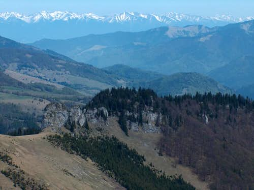 From Ostredok we get splendid views to the south of the <a href=