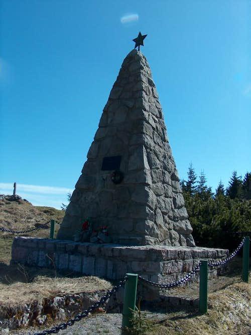 Communist memorial about the Veľká Fatra Slovak resistants during 2nd war.
