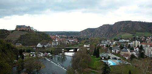 Ebernburg (left) and...