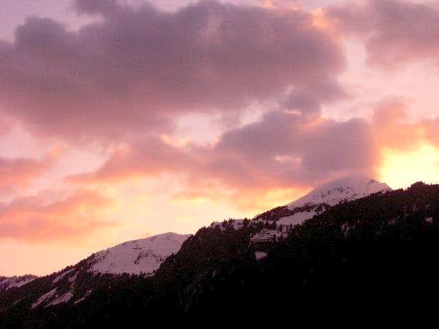 Mont de Grange at daybreak...