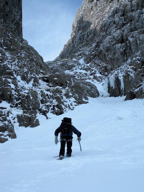 Climbing Ben Nevis's No.5 Gully