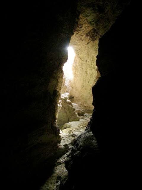Cave in Slot Canyon