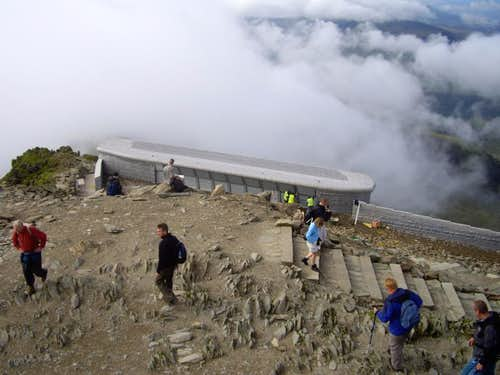The new summit building on Snowdon