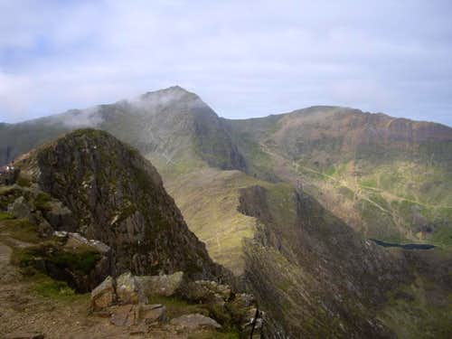 Snowdon Summit from Y Lliwedd