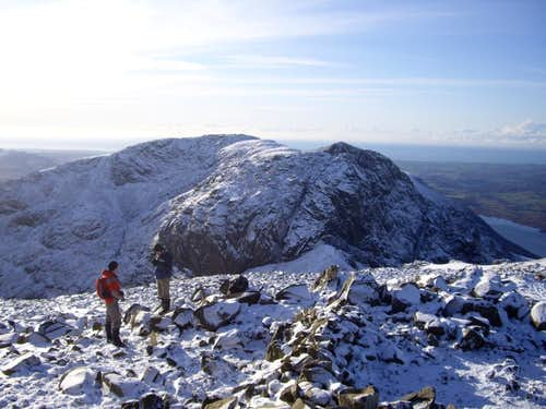 Scafell as seen from Scafell Pike