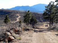 Heading west on Raleigh Peak Road
