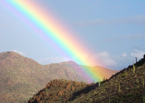 Rainbow over Gates Pass